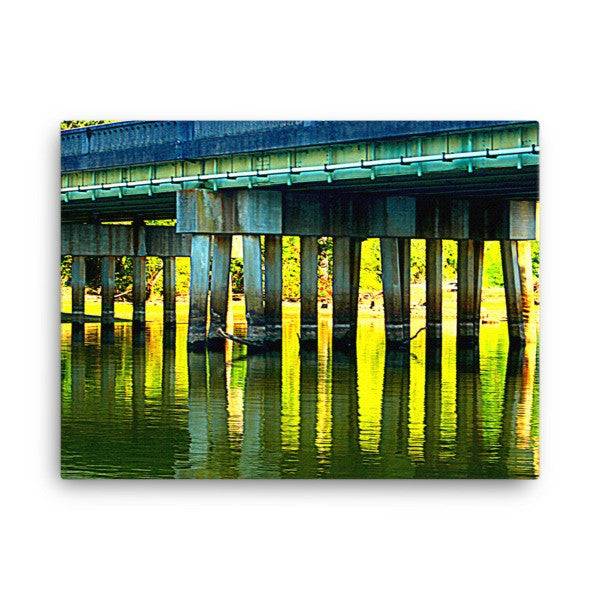 SALE!! 18 x 24 Highway Bridge 74 Lake Wylie in the Fall - Canvas