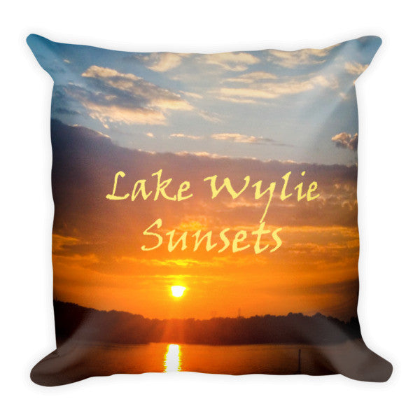 Lake Wylie Sunsets Pillow