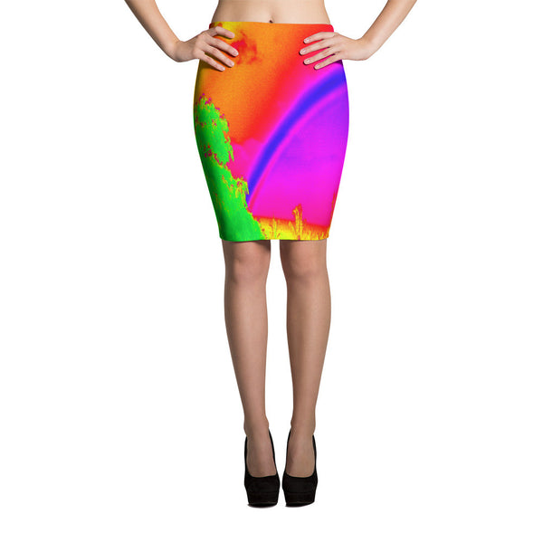Rainbow Bright Body Hugging Skirt