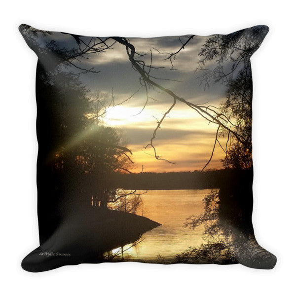 Golden Peace Lake Wylie Sunset Pillow
