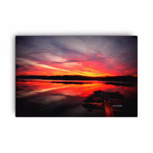 Magnificant Lake Wylie Sunset 24 x 36 Canvas