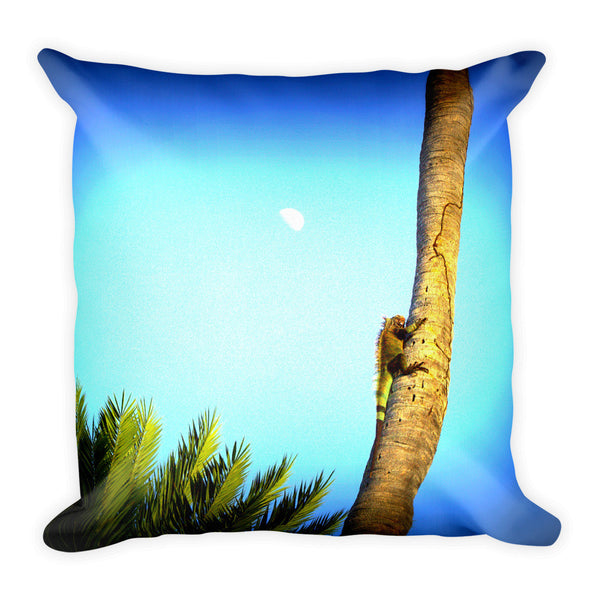 St. John Iguana Climbing Tree Pillow