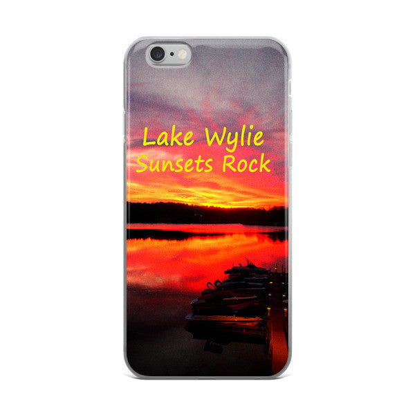 Lake Wylie Sunsets Rock iPhone case