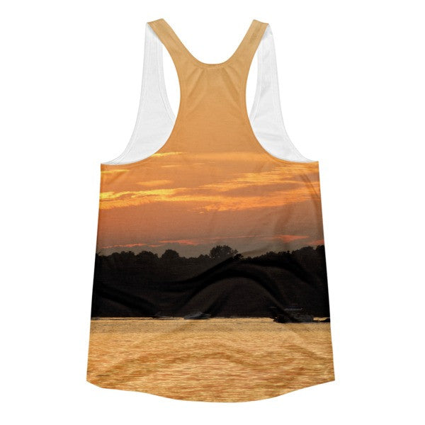 Lake Wylie Sunset Chaser - Women's Racerback Tank