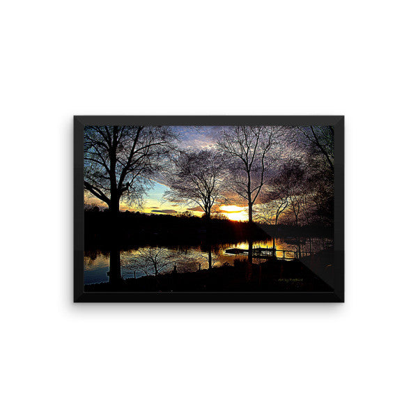 12 x 18 Midnight Sunset Framed Poster
