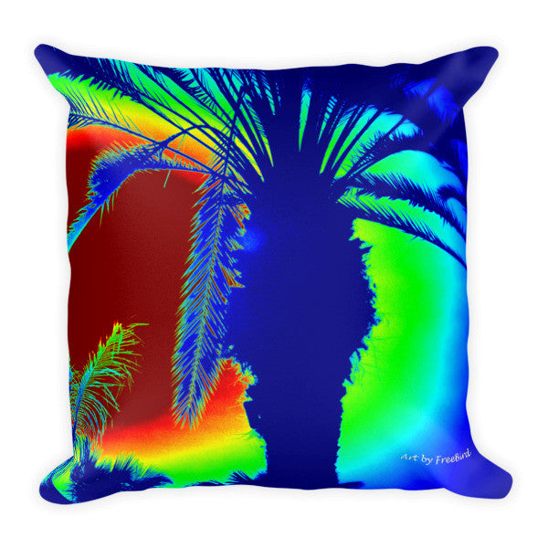 Colorful Artistic Palm Tree Pillow