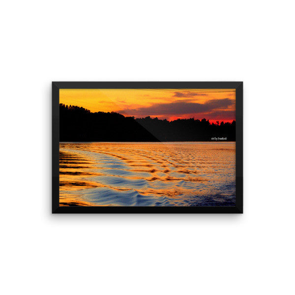 12 x 18 Lake Wylie Sunset Bliss Framed Poster