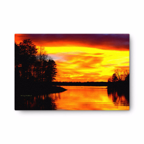 Lake Wylie Sunset from McDowell Park Canvas