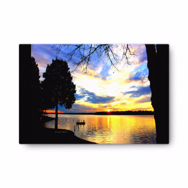 24 x 36 Lake Wylie Sunset Canvas