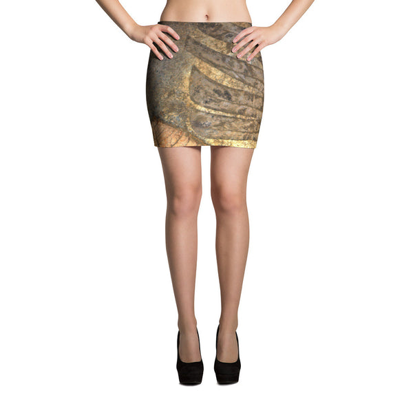 Golden Leaf Mini Skirts