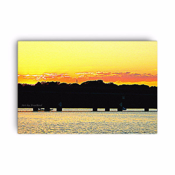 Buster Boyd Bridge Sunset - 24 x 36 Canvas