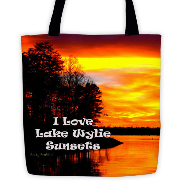I Love Lake Wylie Sunsets Tote bag