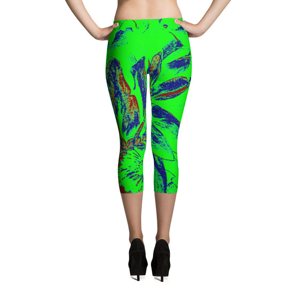 Spectacular Lime Capri Leggings