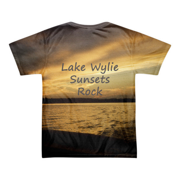 Lake Wylie Sunsets Rock - Short sleeve men's t-shirt (unisex)