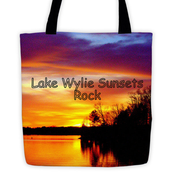 Lake Wylie Sunsets Rock Tote bag