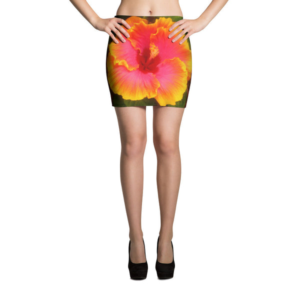 Maui Flower Mini Skirt