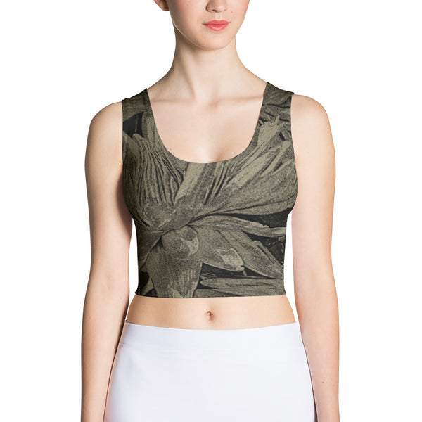 Golden Palms Crop Top