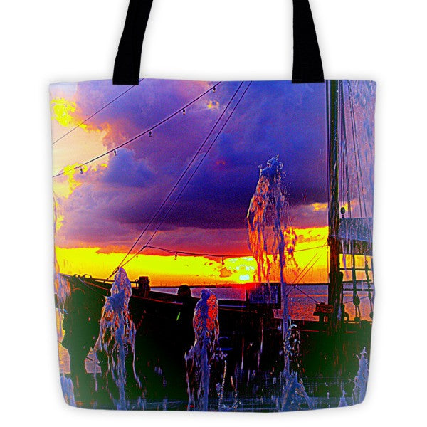 Nautical Sunset Tote bag