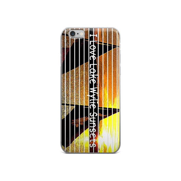 I Love Lake Wylie Sunsets iPhone case