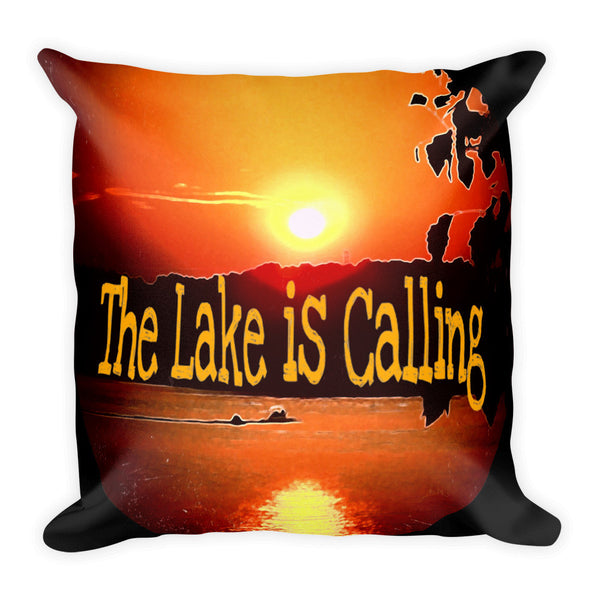 Bright Colored The Lake is Calling Pillow