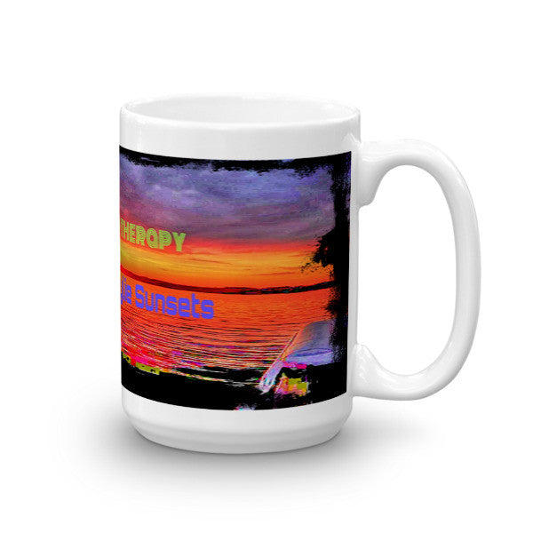 I Don't Need Therapy I Need Lake Wylie Sunsets Mug