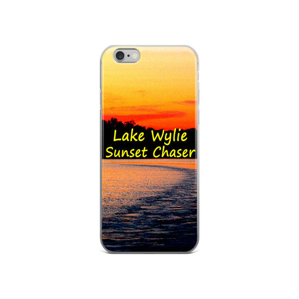 Lake Wylie Sunset Chaser iPhone case