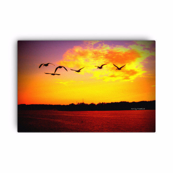 Free as a Bird Lake Wylie Sunset - 24x36 Canvas