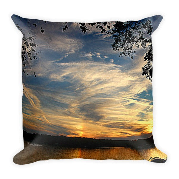 Magnificent Clouds in the Sunset Pillow