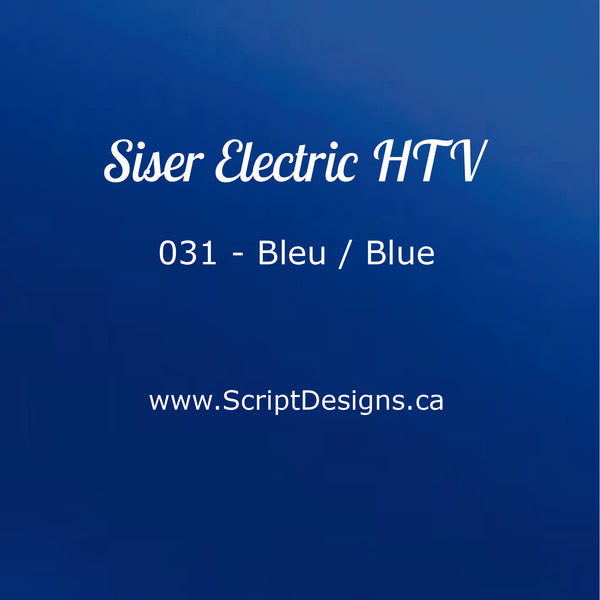 EL 031 Blue - Siser EasyWeed Electric HTV