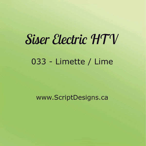 EL 033 Lime - Siser EasyWeed Electric HTV