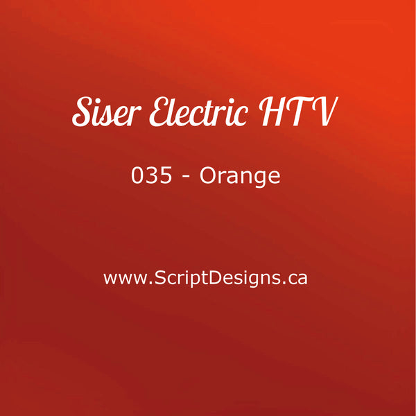 EL 035 Orange - Siser EasyWeed Electric HTV