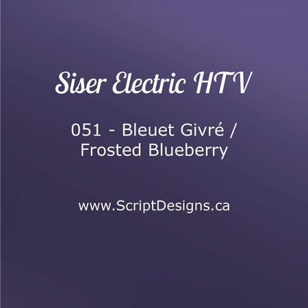 EL 051 Frosted Blueberry - Siser EasyWeed Electric HTV
