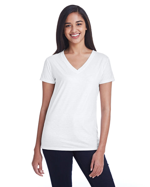 Threadfast Ladies' Liquid Jersey V-Neck T-Shirt - 100% Polyester