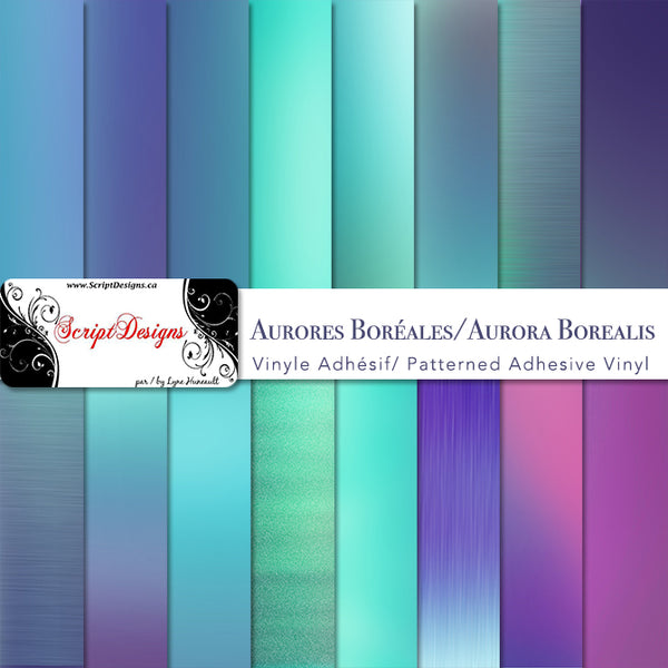Aurora Borealis - Patterned Adhesive Vinyl (18 Different designs available)