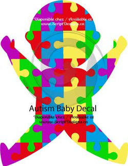 Autism Baby Design HTV Decal