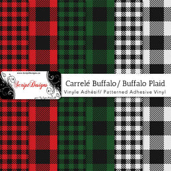 Buffalo Plaid  - Patterned Adhesive Vinyl (8 Different designs available)