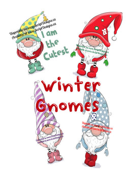 Winter Gnomes - Adhesive Decals