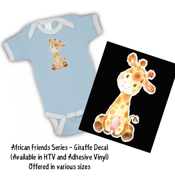 African Friends - Giraffe HTV Decal