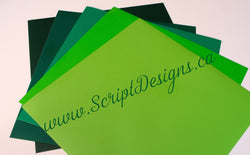 Green with Envy Family - Oracal 651 Vinyl - ScriptDesigns - 1