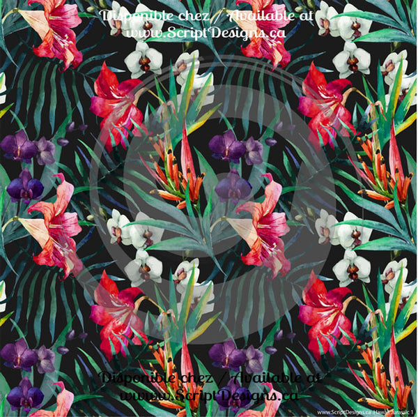 Hawaii Tropical / Jurassic - Patterned HTV (14 Different designs available)
