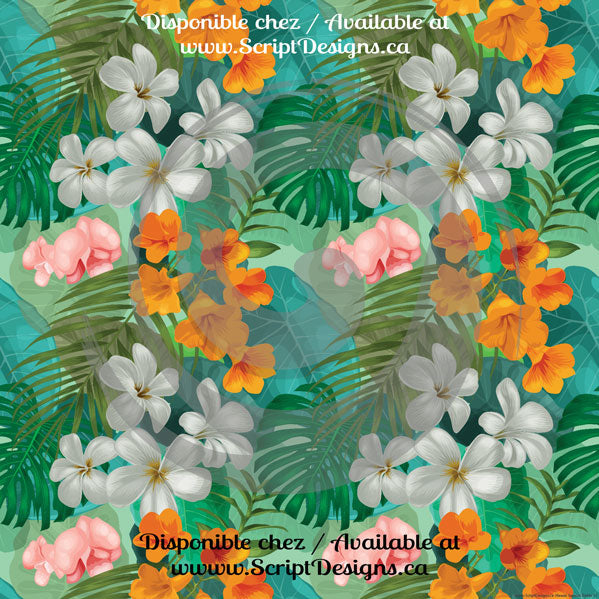Hawaii Tropical Petite / Jurassic - Patterned HTV (14 Different designs available)