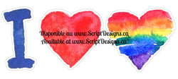 I love 2 hearts - Pride Collection (Adhesive Decal)