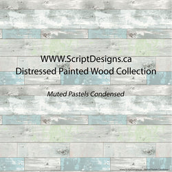 Distressed Painted Wood- Patterned Adhesive Vinyl  (14 Different designs available)