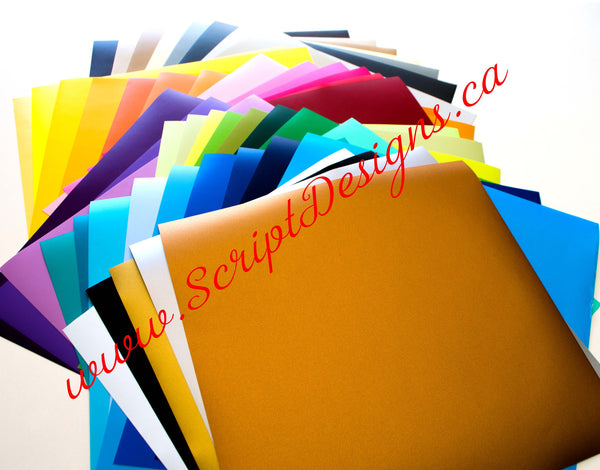 Bundle - Oracal 631 Self Adhesive Matte Vinyl - ScriptDesigns - 1