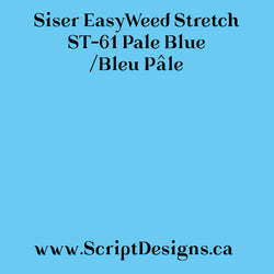 ST61 Pale Blue - Siser EasyWeed Stretch HTV