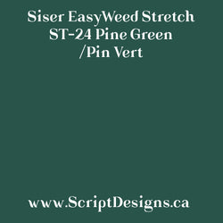 ST24 Pine Green - Siser EasyWeed Stretch HTV