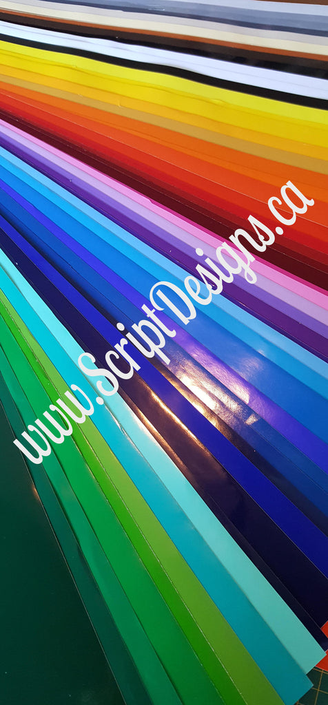 One Yard Bundle Oracal 651 Adhesive Glossy Vinyl 61