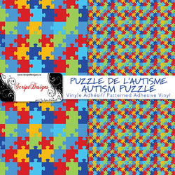 Autism Puzzle  - Patterned Adhesive Vinyl