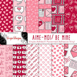 Be Mine - Patterned Adhesive Vinyl  (12 Different designs available)