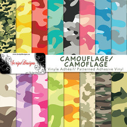 Camo - Patterned Adhesive Vinyl (15 different designs available)
